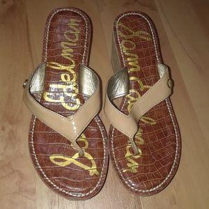 ed0eaba3989b Sam Edelman Shoes - Sam Edelman Romy Nude Leather Wedge Sandal sz 7M